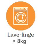 Lave-linge plus grand que 8kg